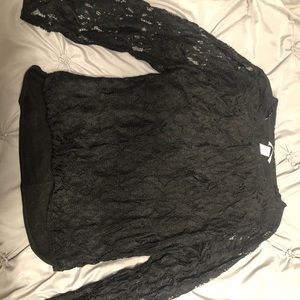 forever 21 lacy long sleeved top